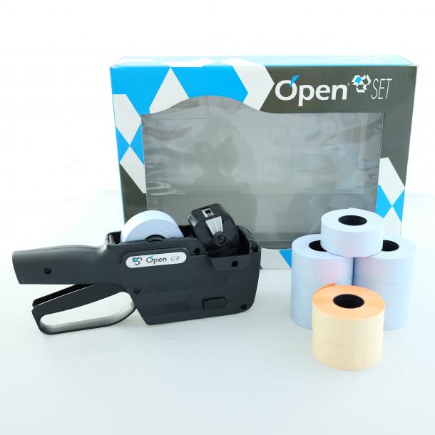 Pakketilbud prismaskin med 1 linje, Open C8 Sort