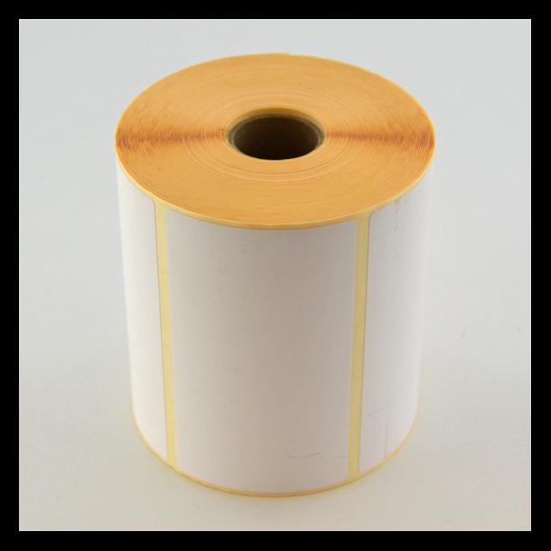 Thermo etikett på rull, 100x57 mm, perm. lim