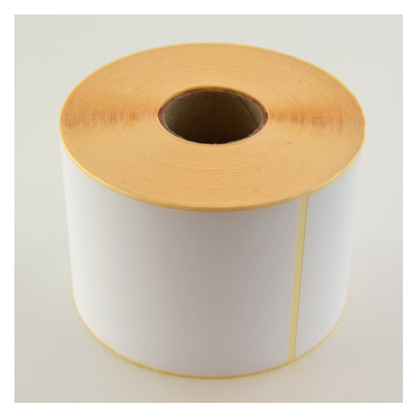 Thermo etikett på rull, 87x127 mm, perm. lim