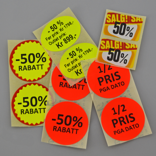 Kampanje- og tilbudsetiketter