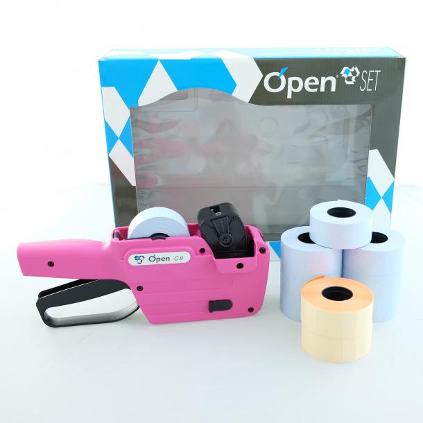 Pakketilbud prismaskin med 1 linje, Open C8 Rosa