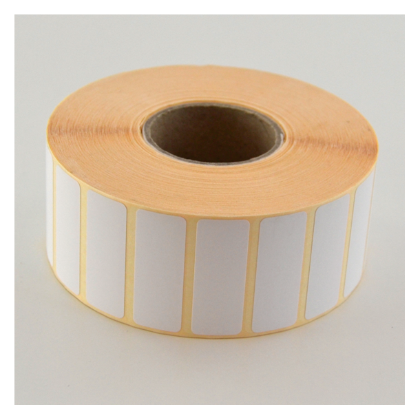 Thermo etikett på rull, 40x15 mm, perm. lim