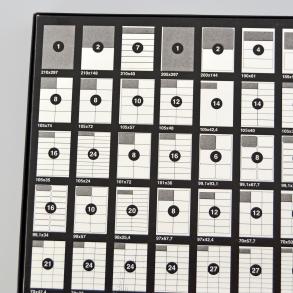 Selvklebende etiketter på A4 ark