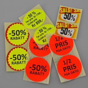 Kampanje og tilbudsetiketter