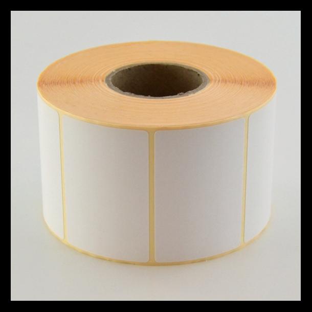 Thermo etikett på rull, 60x40 mm, perm. lim